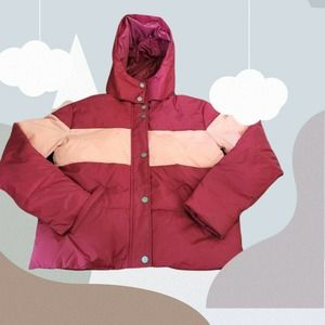 Roxy Out Of Focus Cropped Hooded Puffer Jacket